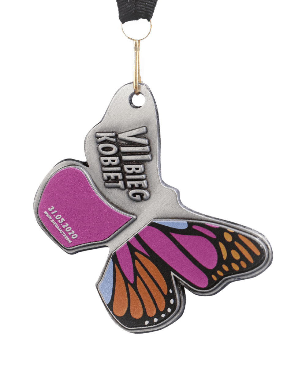 Sports medals in butterfly shape